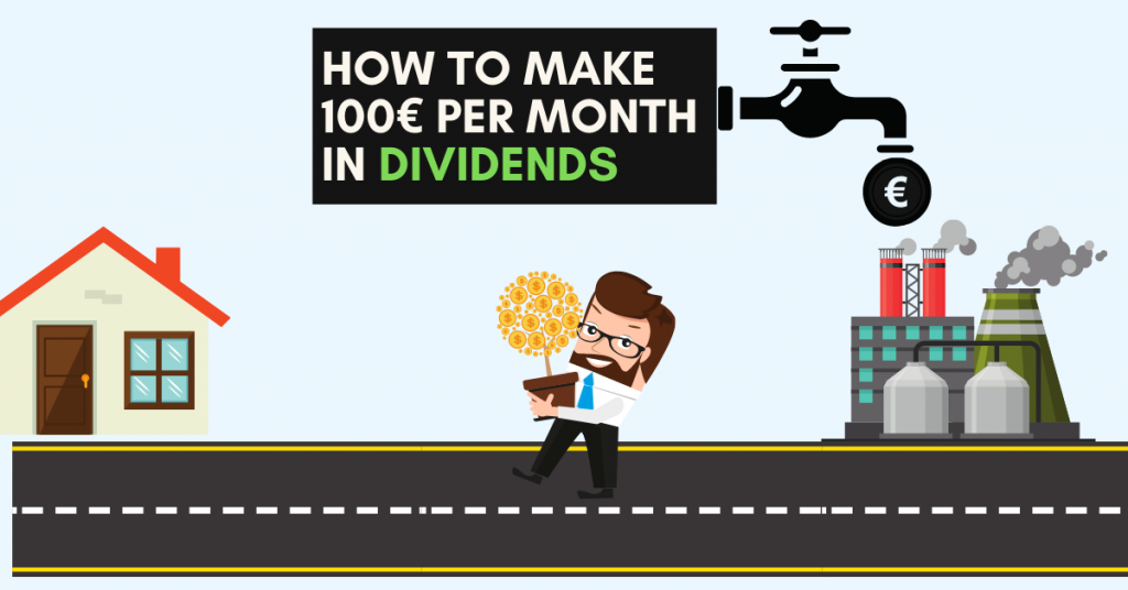 Cover image for How to make 100€ per month in dividends