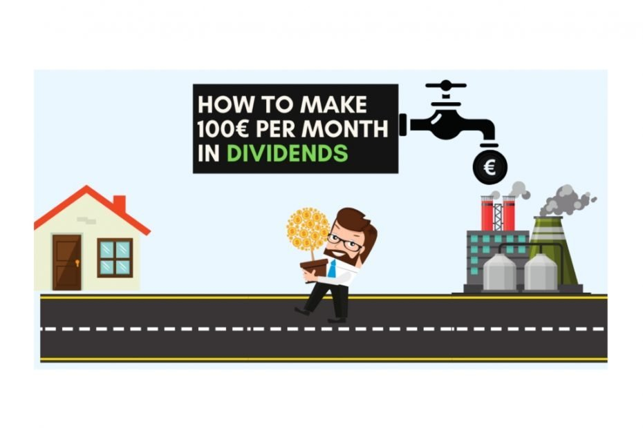 Featured Image for How to Make 100€ per month in Dividends