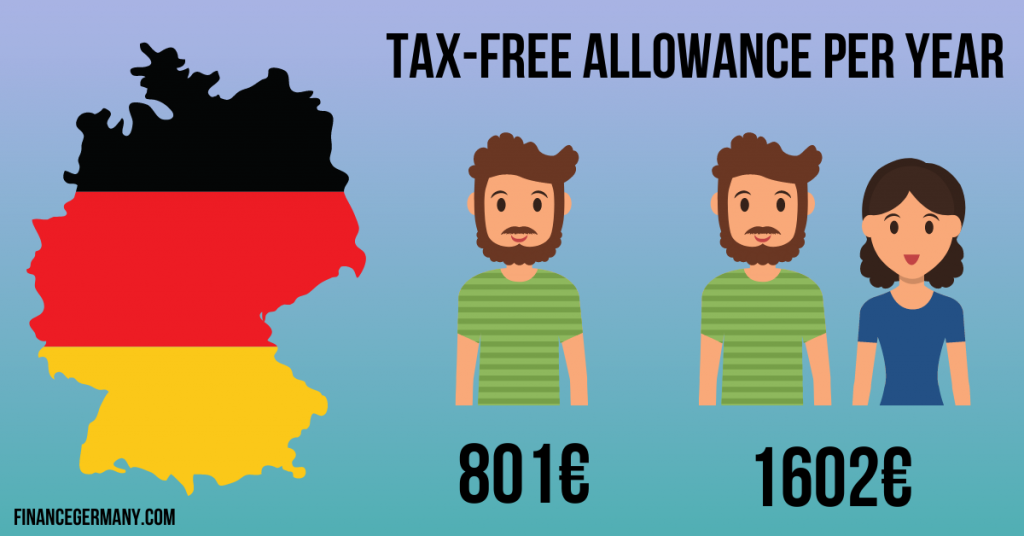 taxes on stocks in Germany minimum amount for exemption