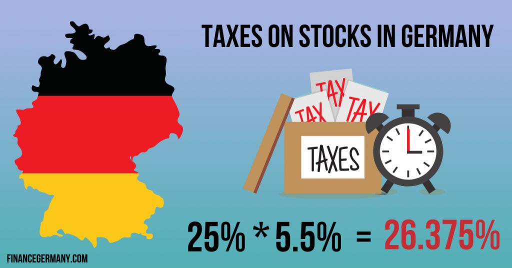 taxes on stocks in germany percentage